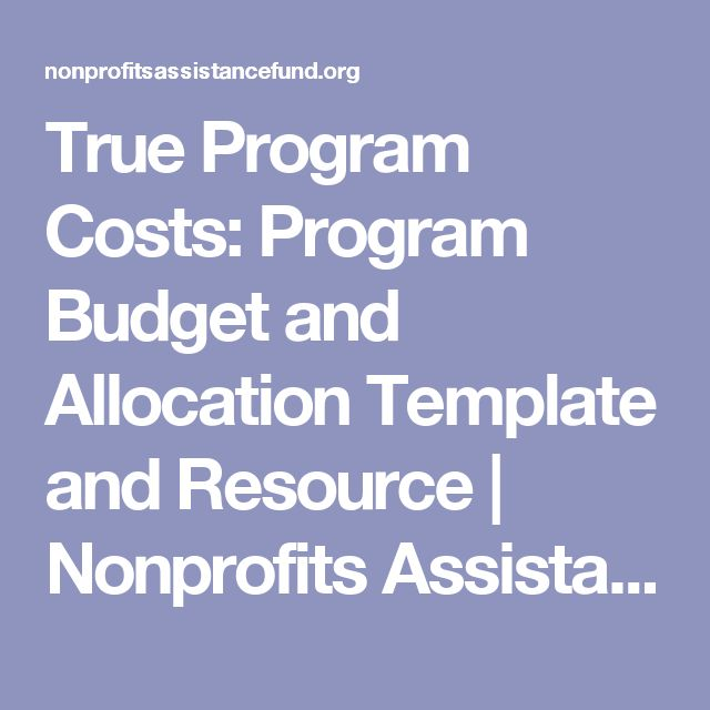 true program costs program budget and allocation template and