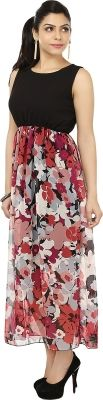 G&M Collections Women's Maxi Dress - Buy Black, Pink G&M Collections Women's Maxi Dress Online at Best Prices in India | Flipkart.com #Maxi #Dresses #India