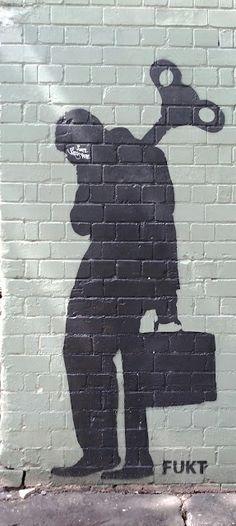 Artist Fukt, street art, graffiti