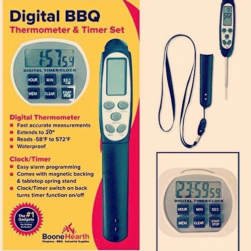 Boone Hearth just launched this thermometer/timer set...essentials for every cook and BBQ enthusiast! Item BM-THMDT50 coupon code INSTAGRAM #food #eating #dinner #bbq #barbecue #grill #grilling #recipe #diy #meat #tbone #veggies #healthy #diet #paleo #lifehack #fashionweek #thisisus #gigihadid #kimkardashian #fall #autumn #pumpkinspice #backtoschool #collegelife #college #dormlife
