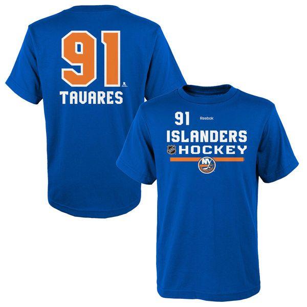 John Tavares New York Islanders Reebok Youth Center Ice Authentic Freeze Name & Number T-Shirt - Royal - $17.59