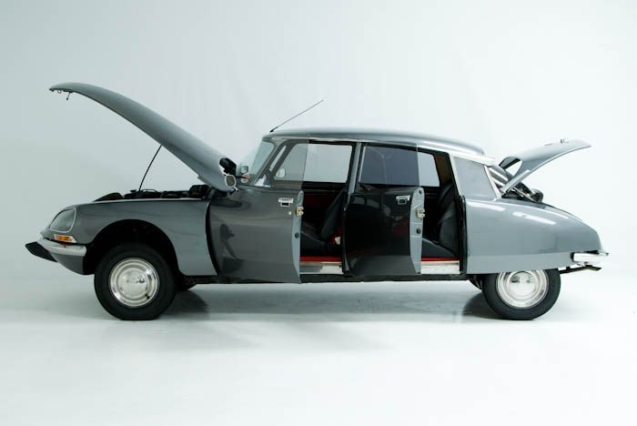 Citroën DS  -  My parents drove a black Citroën like this when I was a kid in the '60's.  They also had a '65 Chrysler 300 convertible, but I remember the Citroën the most.