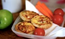 Mini Ham and Zucchini Quiches Recipe - Lunch box