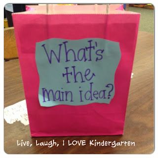 Great idea for teaching about main idea in a visual, tactile, concrete way!