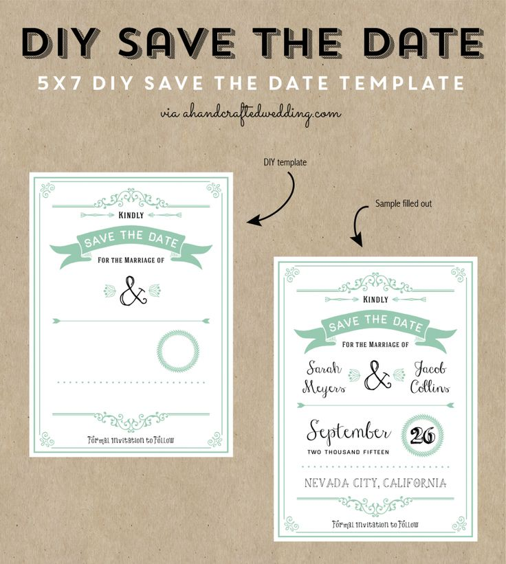 Free printable wedding invitation template wedding for Diy save the date magnets template