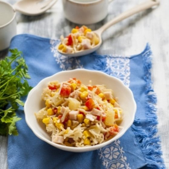 Rice Noodles and Egg Salad. rice noodles and egg salad (in Polish) #eggs #food #…