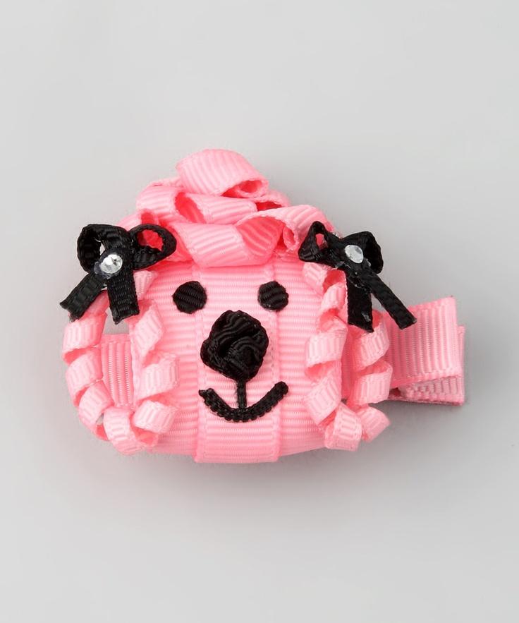 Pink Poodle Clip