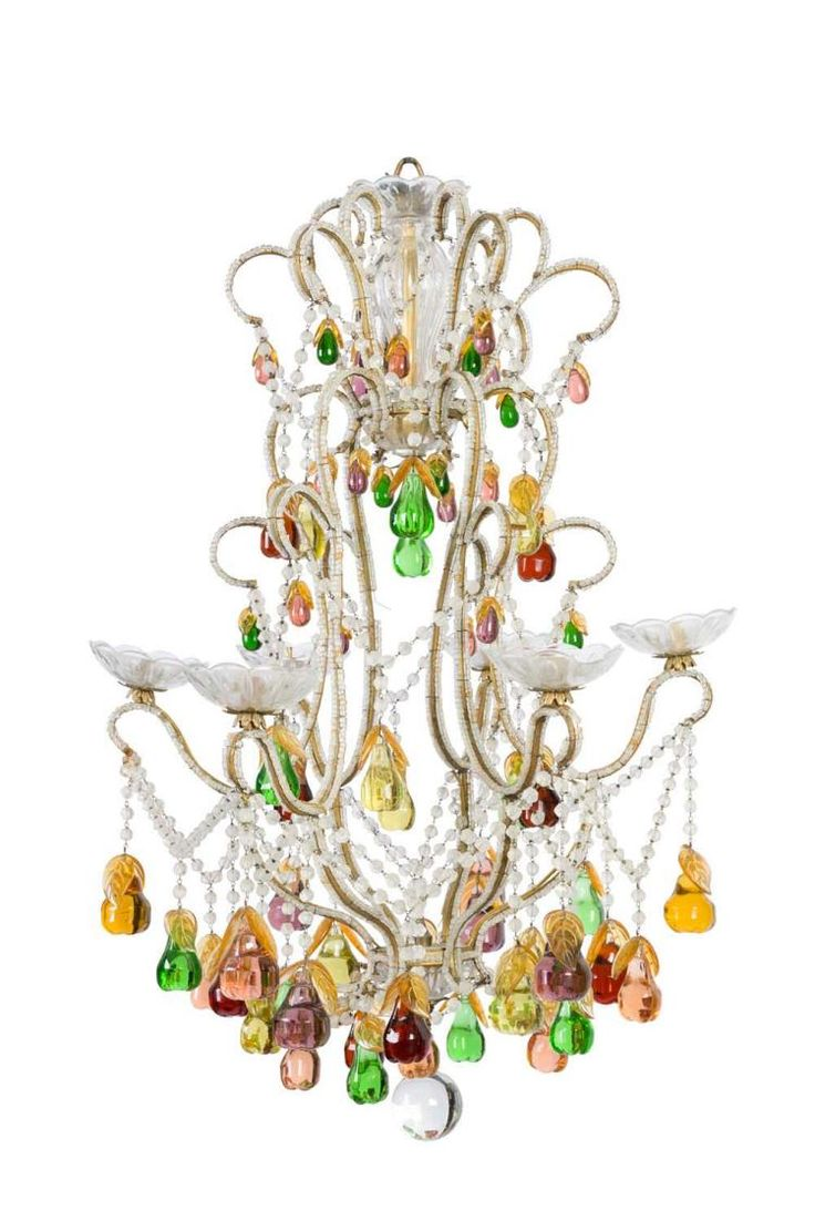 1113 best lights images on pinterest board civilization and a very attractive multi coloured glass chandelier with pear shaped drops french circa arubaitofo Image collections