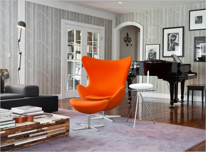 The orange chair in context. The Wilton Residence by UXUS Design - 25+ Best Ideas About Orange Chairs On Pinterest Peach Decor