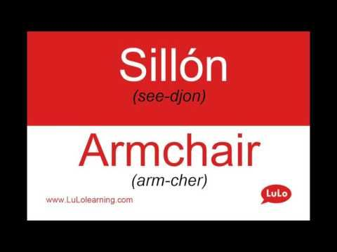 Sillón en Inglés = Armchair in Spanish | Casa Bilingüe = Bilingual Home by LuLo - YouTube