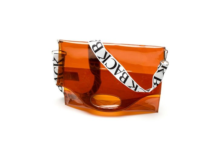 Logo shopper clear plastic via ANN-SOFIE BACK. Click on the image to see more!