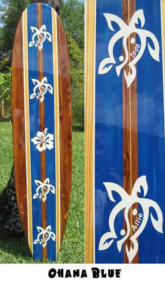 TIKI SOUL DECORATIVE SURFBOARD ART - Ohana Family Personalized Surfboards