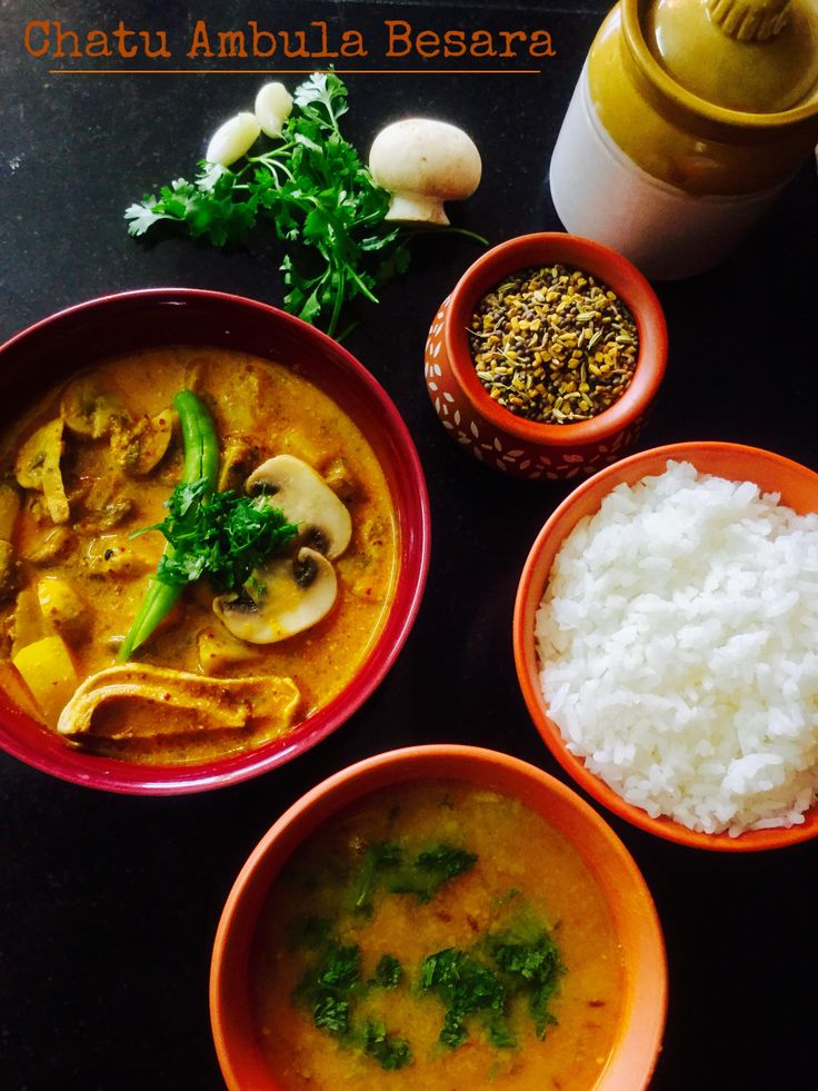 Chatu Ambula Besara/Mushrooms  In Mustard Gravy With Sun Dried Mango A tart, spicy, flavourful, authentic Odiya curry made with locally grown mushrooms, tempered with Paanch phoron or the five spice blend in a mustard gravy with sun dried Mango.