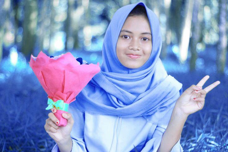 Blue essssa... hutan kampung Lampung Tengah