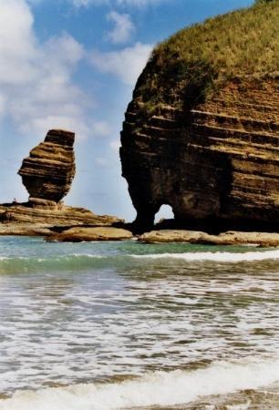 Le bonhomme, et la roche percee Bourail, New Caledonia.  J'ai laisse mon coeur en Nouvelle Caledonie . . .