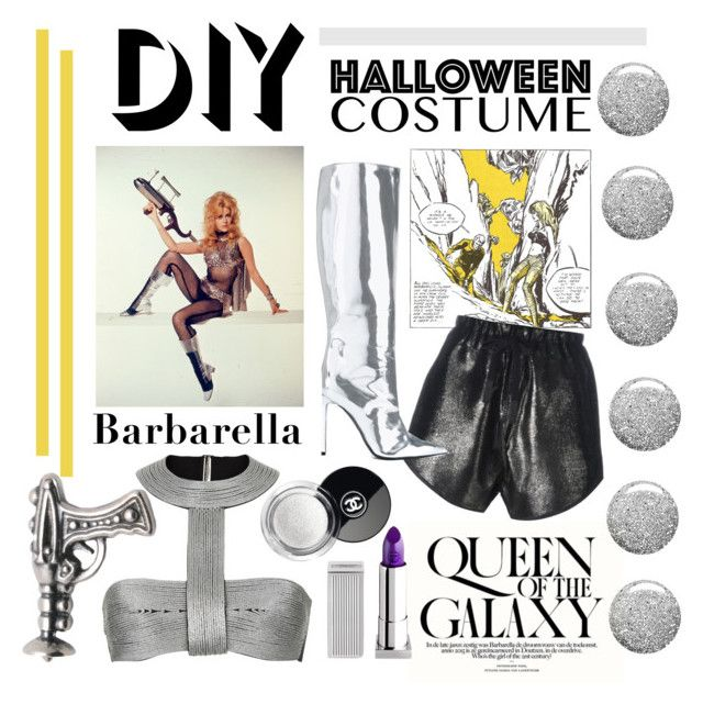 """Barbarella Halloween costume"" by cool-cute ❤ liked on Polyvore featuring BARBARELLA, 10 SEI 0 OTTO, Balenciaga, Topshop, Lipstick Queen, halloweencostume and DIYHalloween"