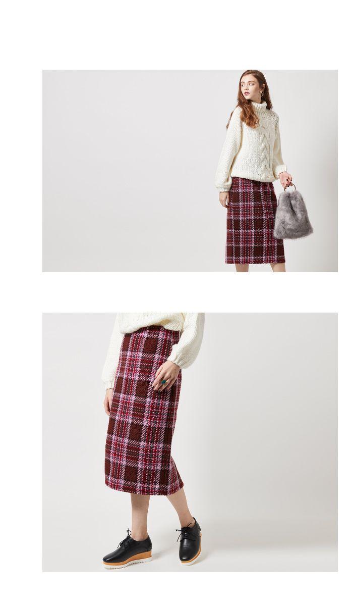 大柄チェックフェイクツイードタイトスカート〔第1弾!予約販売〕通販 |titivate【公式】20代・30代・40代レディースファッション・洋服通販