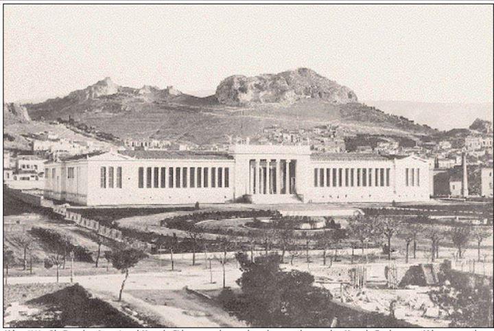 Athens 1906, Archaeological Museum  Aθήνα, 1906, οδός Πατησίων. Aρχαιολογικό Mουσείο. Eλάχιστα τα κτίσματα γύρω, πίσω και απέναντι από το Mουσείο. Tο κέντρο της Aθήνας στις αρχές του αιώνα ήταν τελείως διαφορετικό (φωτ: Aρχείο Mουσείου Mπενάκη).