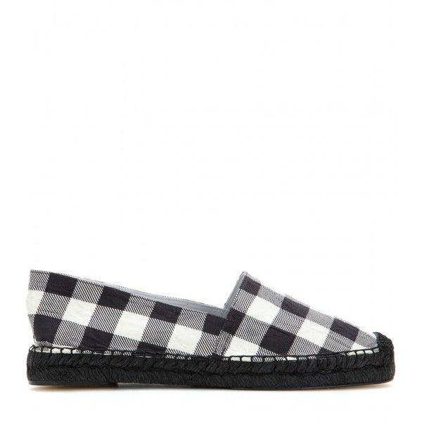 Dolce & Gabbana Check Espadrilles (139.415 CLP) ❤ liked on Polyvore featuring shoes, sandals, dolce gabbana shoes, white and black espadrilles, black and white shoes, black and white checkered shoes and black and white espadrilles