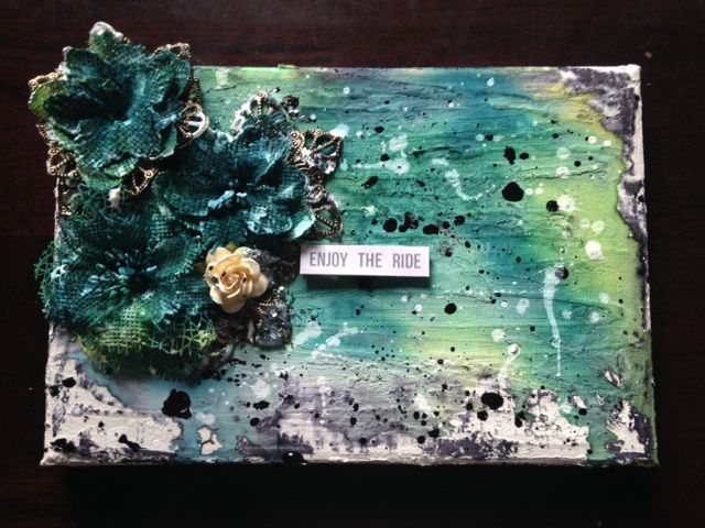 mixed media canvs September challenge entry by Shannon Miller