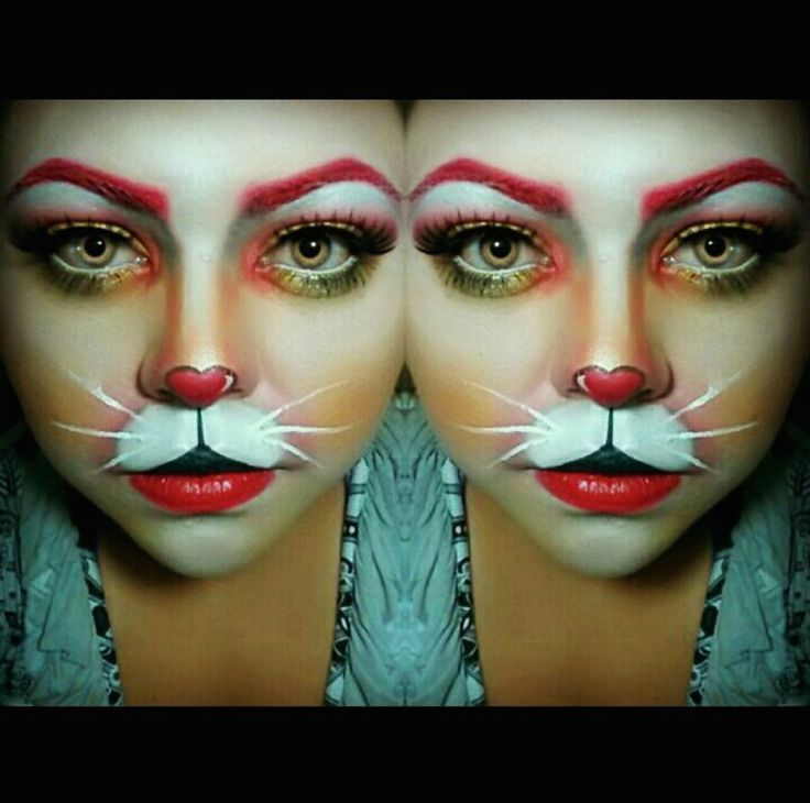 White Rabbit Halloween makeup IG: lucy_munguia