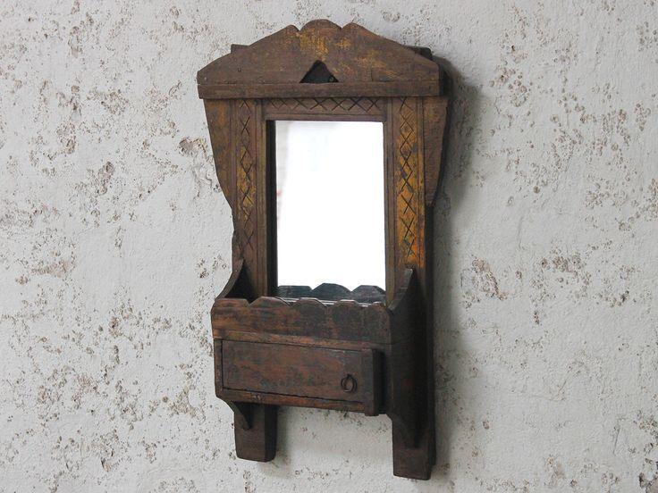 Yellow Wall Mirror from Scaramanga's vintage furniture and interiors collection #vintage #interior #homeinspo #inspiration #ideas #homedecorideas #scaramanga