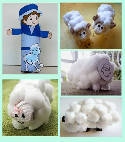 SHEPHERD & SHEEP TOILET PAPER ROLL CRAFT (with pattern)