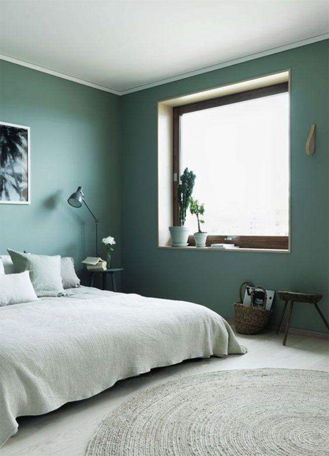 En photos 15 inspirations pour une belle chambre verte chambre verte vert chambre d co - Chambre noir et vert ...