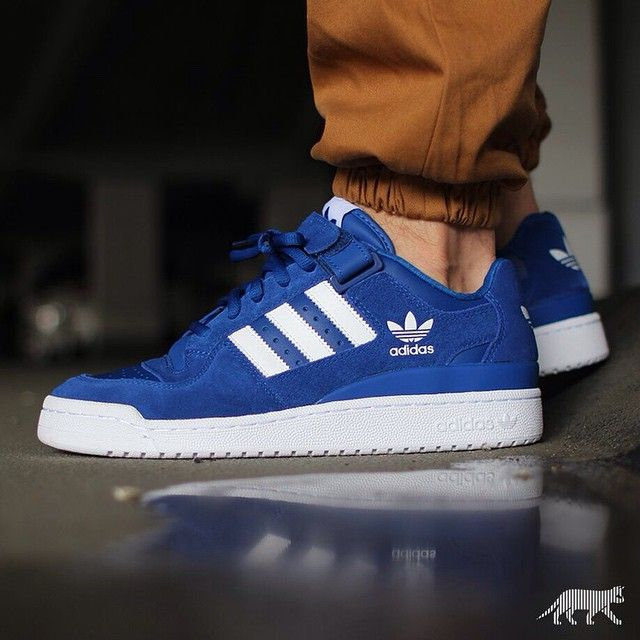 Best Drop Shipping Adidas Forum Mid Couple Skateboard shoes Blue fluorescent green[