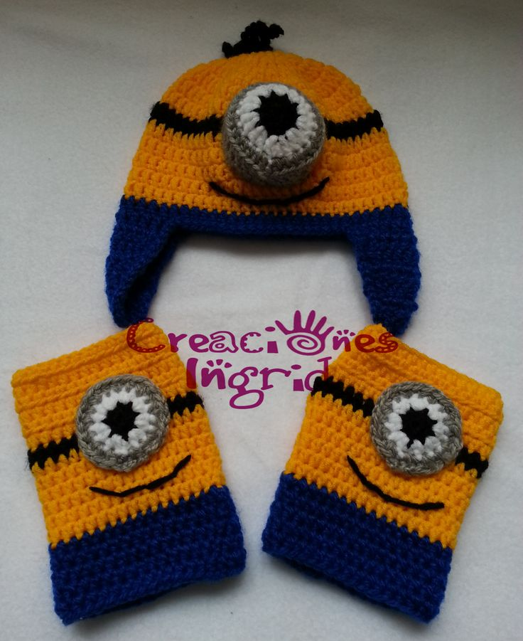 Gorro y Guantes Minions / Minions Hat and Gloves