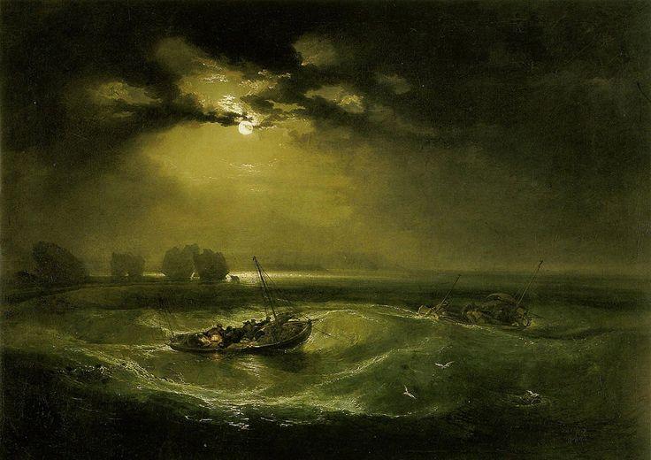 Уильям Тернер «Рыбаки в море». Описание картины. Художники импрессионисты