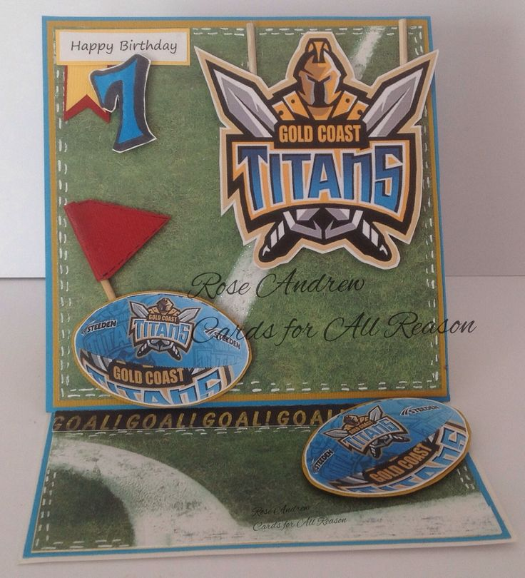 Special Boy Birthday card for a special boy who loves Titans ...happy customer order
