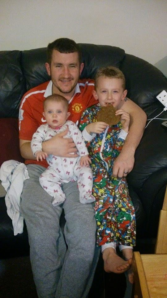 Owl Crazy Mummy - Our journey through parenthood  My 2 babies having cuddles with their daddy!!