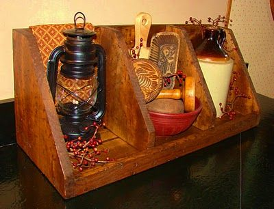 primitive diy nesting box.. by Pieced pastimes... wonderful pics
