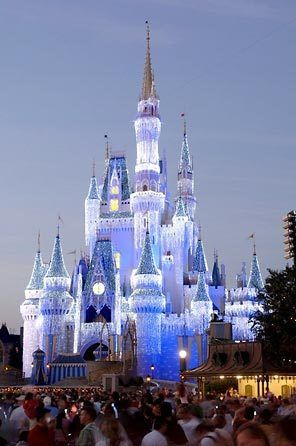 Cinderella's Castle in Disneyworld  (LOVE it at Christmas time.)
