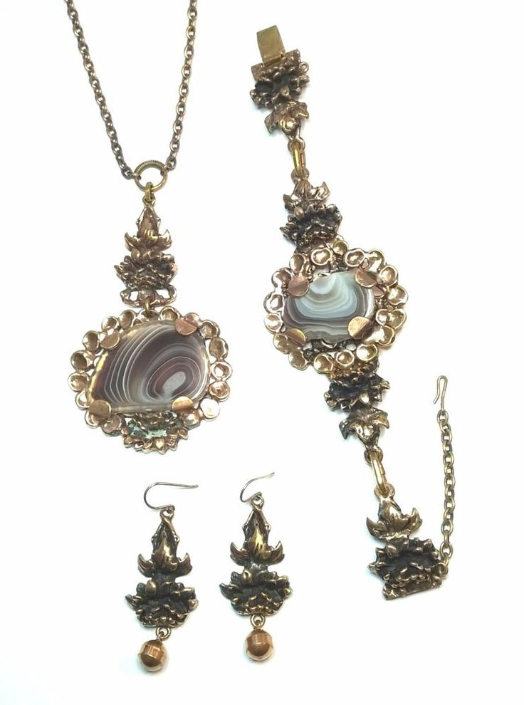 Pentti Sarpaneva Finland - Vintage Bronze Set - Necklace , Bracelet and Earrings #PenttiSarpaneva #Pendant
