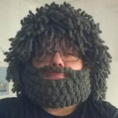 My version of Mad Scientist Hat Crocheted