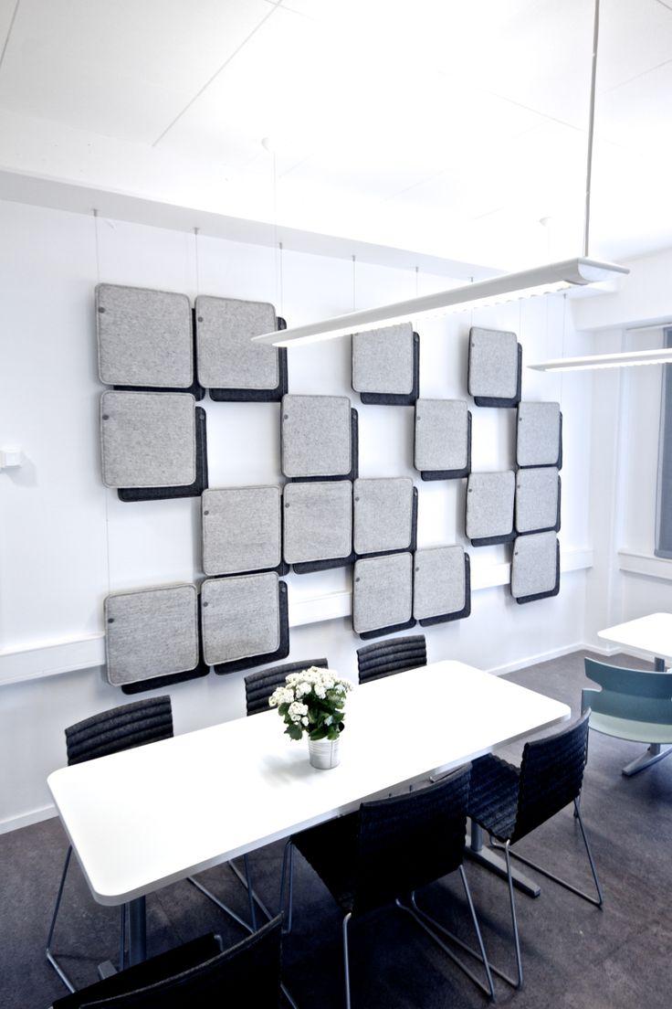 FeltTile from Rom & Tonik. Acoustical tiles from 100% wool. www.rom-tonik.com