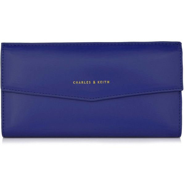 CHARLES & KEITH Classic Wallet ($43) ❤ liked on Polyvore featuring bags, wallets, blue fillers, fillers, blue, magnet wallet, charles keith bag, blue bag, blue wallet and magnetic wallet