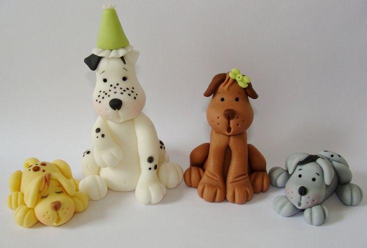 Dog Cake Accessories : Best 25+ Fondant dog ideas on Pinterest Fondant figures ...