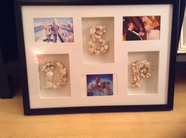 Beautiful handmade Initial wedding frame