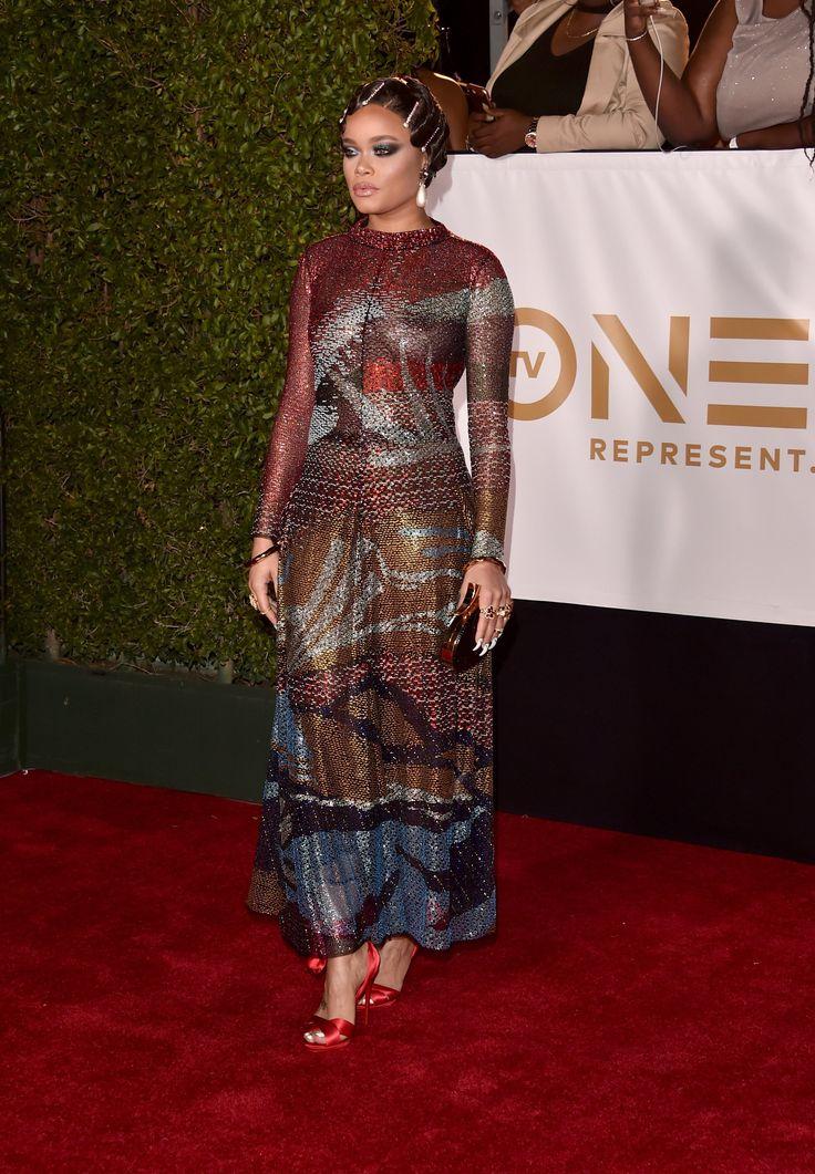 WHO: Andra Day WHAT: Giorgio Armani WHERE: NAACP Image Awards, Los Angeles WHEN: January 15, 2018