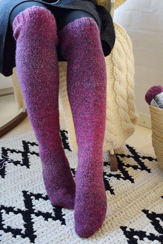 Free Knitting Pattern for Linen Stitch Socks