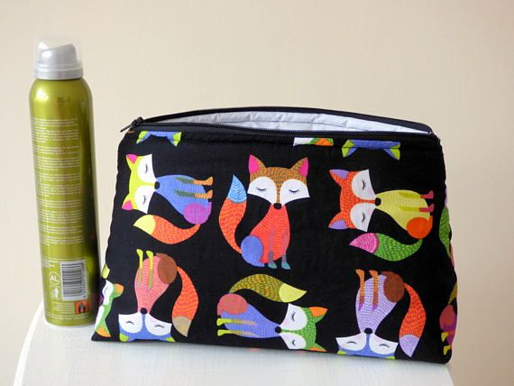 Fox Wash Bag Toiletry Bag Large Makeup Bag Fox Travel Bag