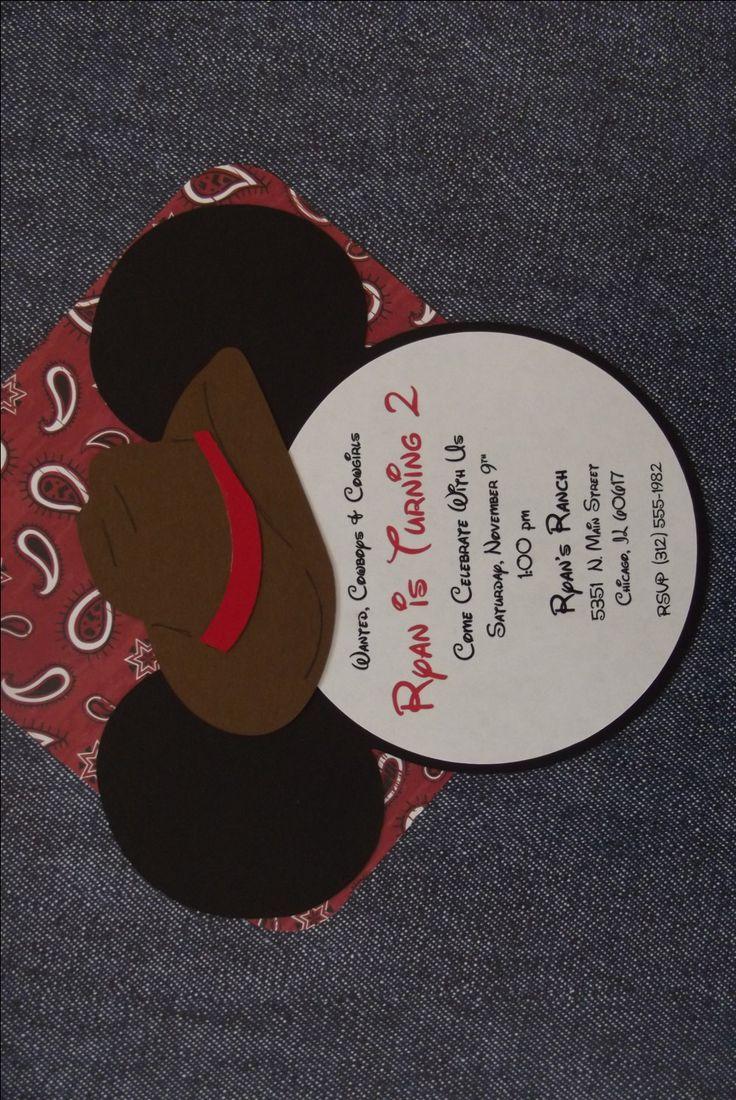 Mickey Cowboy Cowgirl Mickey Invitations Country Western Mickey Invitations Mickey Baby Shower Barn Dance Mickey Pony Vaquero Invitation by whimsycreationsbyann on Etsy https://www.etsy.com/listing/168480968/mickey-cowboy-cowgirl-mickey-invitations