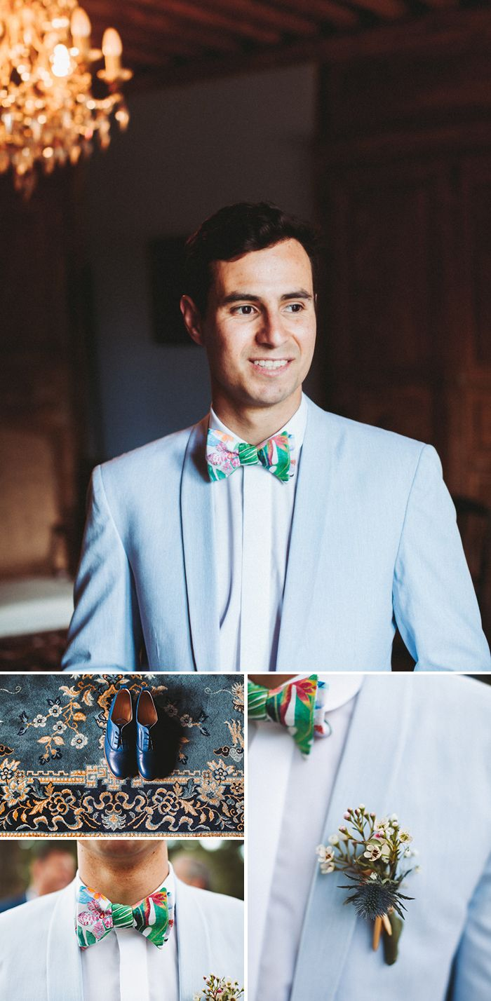 Get you a man who can rock this whimsical spring style as well as this groom  | Image by Laurence Revol