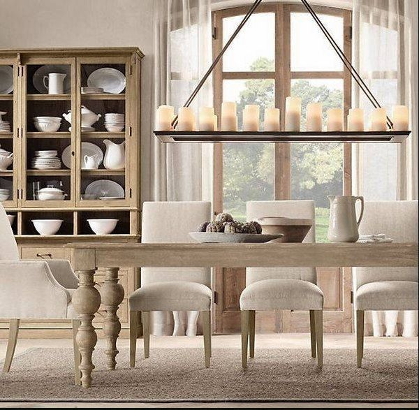 Kitchen Table With Leaf Blanco Faucets Rectangle Candle Chandelier Rustic Dining Room Decorating ...