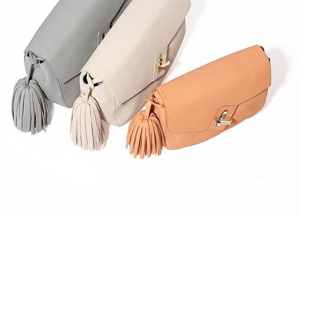 A little sneak peek from our #Coterie #NYC presentation of what we have in store for #spring16 with many new styles like the ela Saddle bags with oversized tassels in #citrus #ivory #grey #elahandbags #humbleluxury