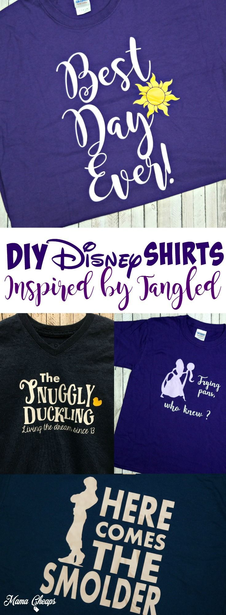 Diy Disney Shirts Inspired By Tangled Movie! Find More Great Disney Diy  Ideas On Mamacheaps