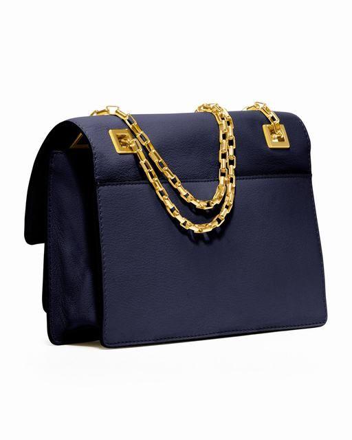 Michael Kors Gia Kette-Riemen Klappe Tasche Navy deutschland 0 #womensbags#jewellery #jewellerydesign}